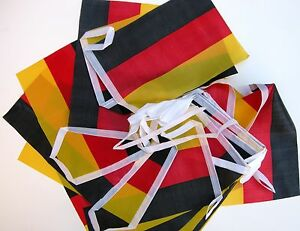 Super Flag of German Germany Deutsch Fabric Bunting 5.5m 20 Flags 1st Class Post