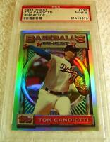 TOM CANDIOTTI 1993 TOPPS FINEST REFRACTOR #132 PSA 9 MINT VERY RARE DODGERS