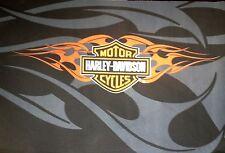 Harley Davidson Shield & Flames fabric for Flag/Throw etc.
