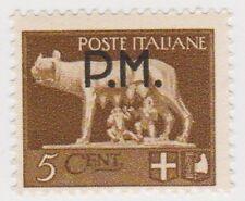 (IT229) 1943 Italy 5c Brown Militare MP owm583