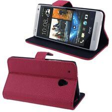 COVER CUSTODIA FLIP CASE per HTC ONE MINI M4 PELLE STAND+SLOT 2CARTE CREDITO ROS