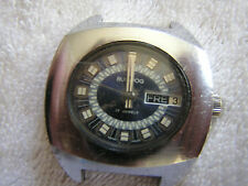 Vintage Bull Dog Watch Swiss Day Date 17 Jewels