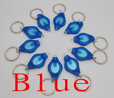 100pcs white light 22000mcd Blue LED Flashlight Keychain Torch Light Key Chains