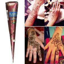 Temporary Tattoo Natural Herbal Henna Cones Body Art Paint Mehandi Ink Brown