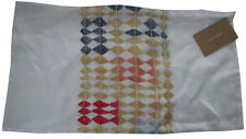 "West Elm Diamond Stripe silk Pillow Cover- 12"" x 21"""