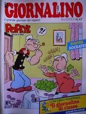 GIORNALINO n°47 1984 Popeye I PUFFI POOCHIE Piccolo Dente [G261]