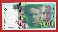 ( Ref: A1 PM) 500 FRANCS PIERRE ET MARIE CURIE 1998 NEUF (Alph:A recherché)