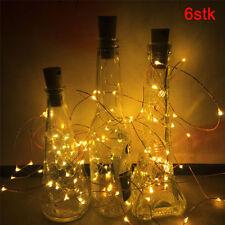 6x 20LED 2M Mode Korken geformte LED-Nachtlicht Flaschen-Lampe Xmas L778*6