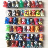 Random Lot 50PCS Ooshies DC Marvel TMNT Batman Joker Cyborg Captain America Toys