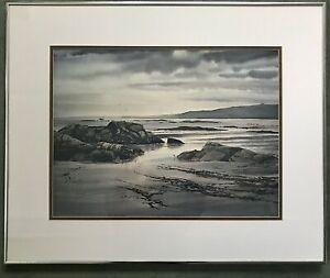 Watercolour Canadian Artist Jack Henry Reid Titled 'Beach Evening'