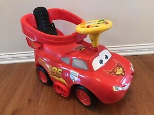 Kiddieland Toys Disney Cars Toddler McQueen Ride On Toy with Lights and Sounds