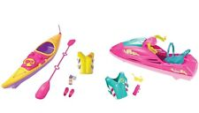 Barbie Camping Fun Accessory KAYAK Water Ride Wave Runner Jet Ski 2 PLAYSETS