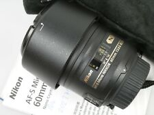 Nikon AF-S micro Nikkor 60mm 1:2,8g SWM ed if aspherical nano Crystal 2,8/60 mm
