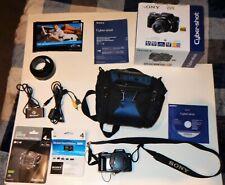 Black Sony Cyber-shot DSC-H10 8.1MP Digital Camera Padded Case Targus Card Reade