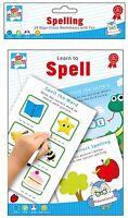 Wipe Clean Spelling Book Practice School Word Learn to Spell Marker Pen Help Kid