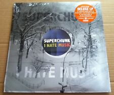 SUPERCHUNK I hate Music DELUXE ORANGE Vinyle LP SEALED w/ BONUS 7 INCH & STENCIL