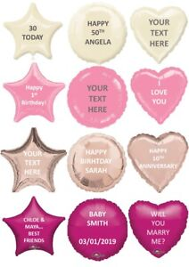 Foil Balloon 18inch Message Birthday Party Decoration Name Age Love