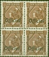 New Zealand 1938 3d Brown SG0125 V.F MNH Block of 4