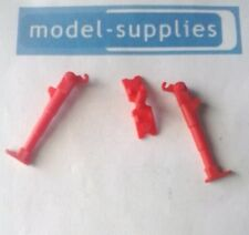 Dinky 106 Thunderbird 2 reproduction red plastic leg release button & 2 legs