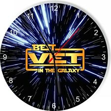 Best Vet in the Star Galaxy Space Kitchen Living room Wall Clock