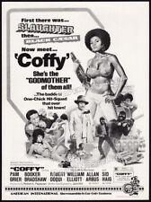 COFFY__Original 1973 Trade print AD / advert__PAM GRIER__Sid Haig__EXPLOITATION