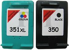 Remanufactured 350 Black & 351XL Colour Ink Cartridge to fit HP Photosmart C5280