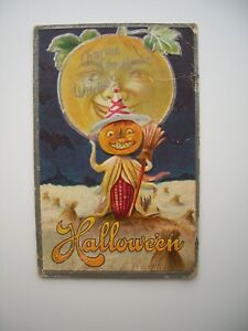 Postcard Early Antique Embossed Halloween #2