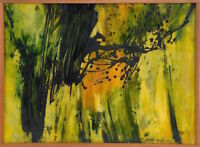 John Way (aka Wei Letang) Original Abstract Painting 1967 Signed Art Decor NYC
