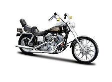 Harley Davidson 1997 FXDWG Dyna Wide Glide échelle 1:18 noir de maisto