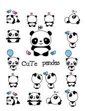 Waterproof Temporary Fake Tattoo Stickers Panda Animals Blue Balloon Cartoon