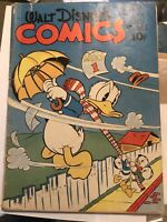 42 Dell Walt Disney's Comics And Stories #42 1944 VG Free Shipping Carl Barks