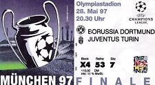 Calcio/Football Biglietto Stadio Finale Champions League 1997 JUVENTUS-BORUSSIA