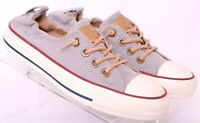 Converse All Star CT Gray Peached Canvas Slip-On Shoreline Sneaker Women's US 6