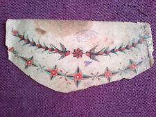 CHEST BIRDS = RARE ORIGINAL 1920-30s 2-SIDED CLASSIC  BOWERY TATTOO FLASH SCRAP