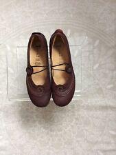 Ladies Burgundy E U 41 Uk 7.5 Think! Leather Shoes
