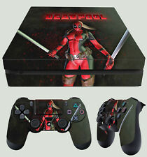 PS4 Fin Skin Lady Deadpool DARK 02 SEXY MERCENARY Wanda AUTOCOLLANT + PAD
