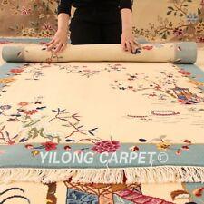 YILONG 4'x6' Handmade Wool Carpet Chinese Art Deco Living Room Area Rug