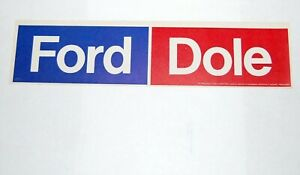 1976 GERALD FORD BUMPER STICKER Bob Dole campaign pin pinback button political
