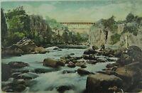 .LAUNCESTON , CORRA LINN BRIDGE TASMANIA 1906 POSTCARD