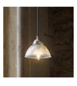 GARDEN TRADING Petit Paris Pendant Glass Light Satin Nickel - VGC