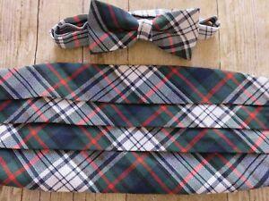 Vintage Tuxedo Cummerbund Mad Men Style Eames Era Plaid Cummerbund