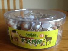 Tub of 48 Plastic Toy Farm Animals - Great for Party Bags - Brand New