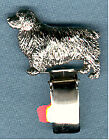 Clumber Spaniel Nickel Silver Ring Clip Pin Jewelry*