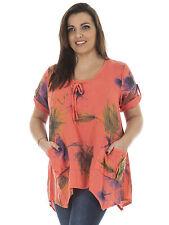 Linen Tunic, Kaftan Casual Floral Tops & Shirts for Women