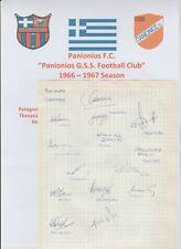 PANIONIOS OF GREECE 1966-1967 RARE ORIGINAL LARGE BOOK PAGE 14 X AUTOGRAPHS