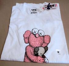 "NEW ""UNIQLO x KAWS"" T-shirt Pink BFF Companion X eye White Men's M (Japanese)"