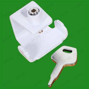 10x White Universal Window Staylocks & Key, Locks, Replaces Casement Pegs, NEW