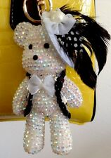 "Fashion Rhinestone 5"" Bear Purse Charm Key Chain Key Ring"