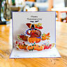 1pc Pop Up Thanksgiving Card Cute Lovely Adorable Greeting Card Turkey Gift Card