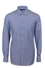 Camicia Ingram Regular Fit Azzurro mille righe 100% Cotone No Stiro Taglia 41 L